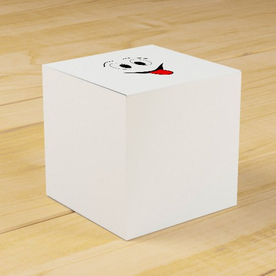 Funny face - black and red. favour box