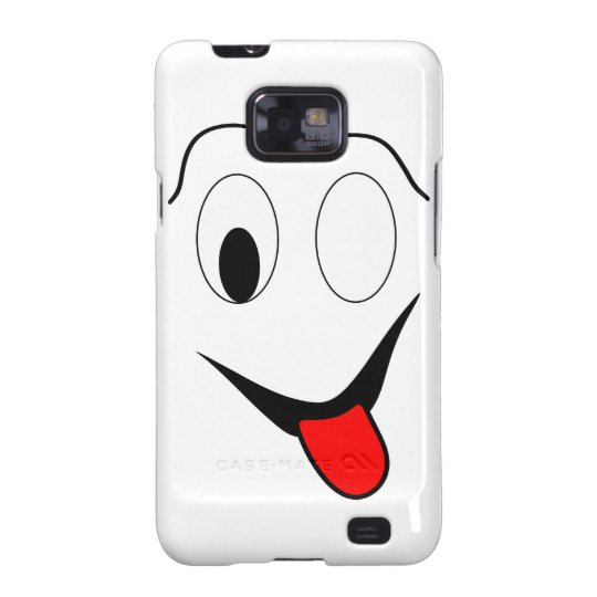 Funny face - black and red. galaxy s2 cases