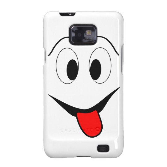 Funny face - black and red. galaxy s2 covers