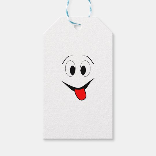 Funny face - black and red. gift tags