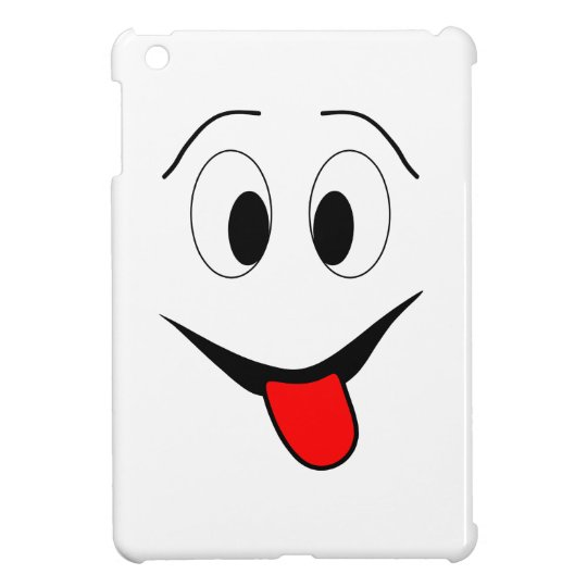 Funny face - black and red. iPad mini cover