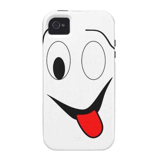 Funny face - black and red. iPhone 4/4S covers