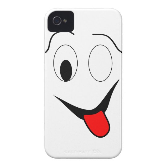 Funny face - black and red. iPhone 4 cases