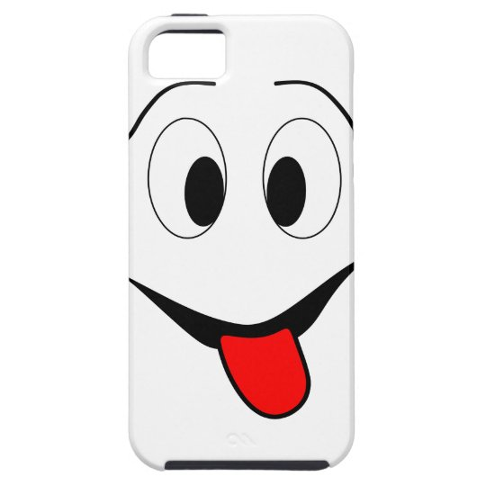 Funny face - black and red. iPhone 5 covers