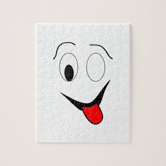 Funny face - black and red. jigsaw puzzle