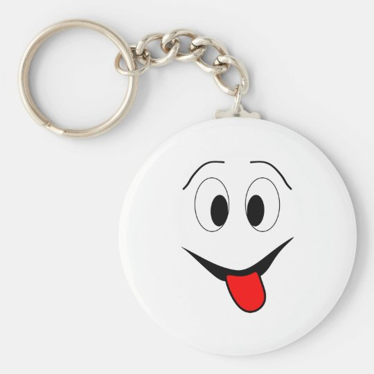 Funny face - black and red. key ring
