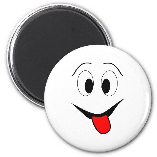 Funny face - black and red. magnet