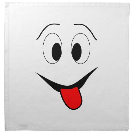 Funny face - black and red. napkin
