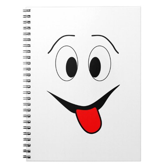 Funny face - black and red. notebook