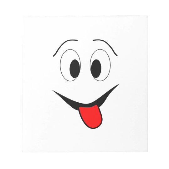 Funny face - black and red. notepad