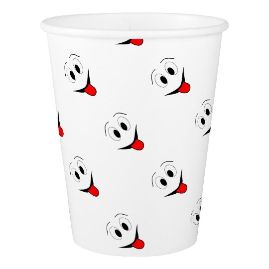 Funny face - black and red. paper cup
