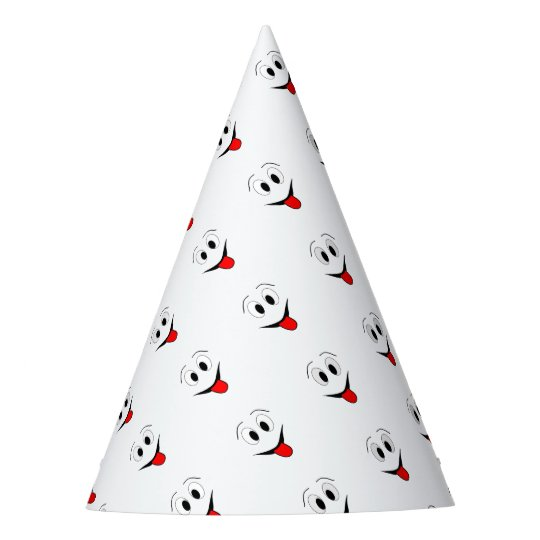 Funny face - black and red. party hat