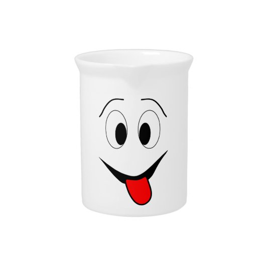 Funny face - black and red. pitcher