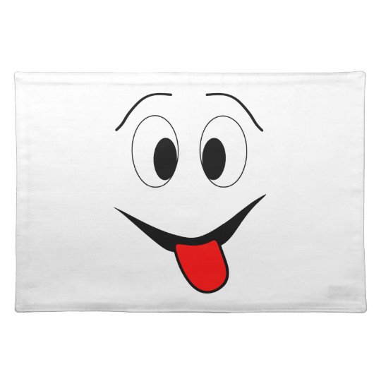 Funny face - black and red. placemat