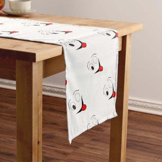 Funny face - black and red. short table runner