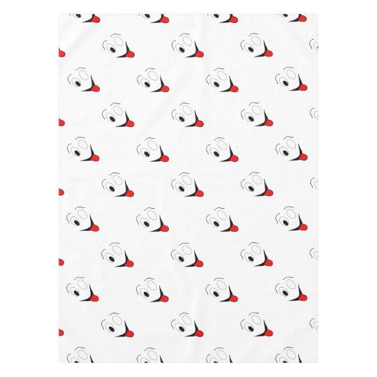 Funny face - black and red. tablecloth
