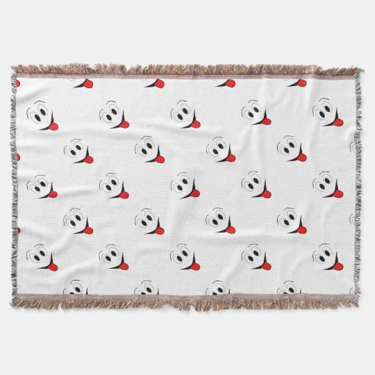 Funny face - black and red. throw blanket