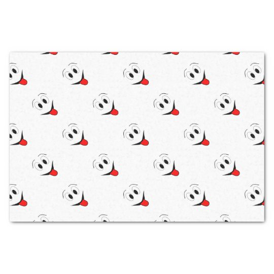 Funny face - black and red. tissue paper