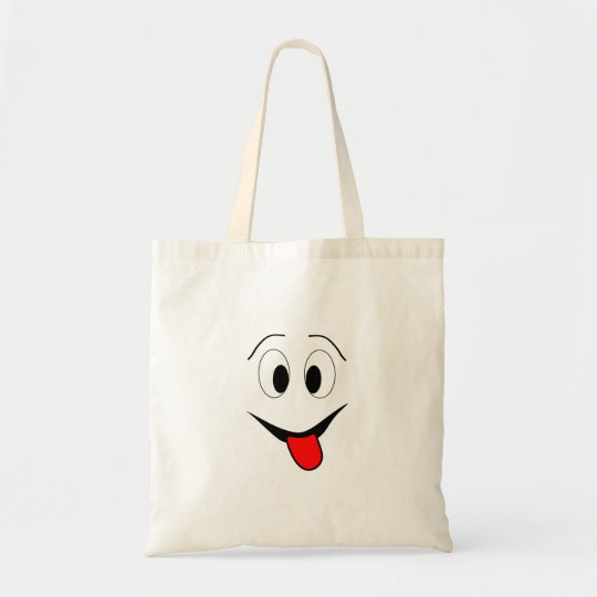 Funny face - black and red. tote bag
