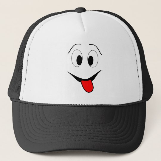 Funny face - black and red. trucker hat