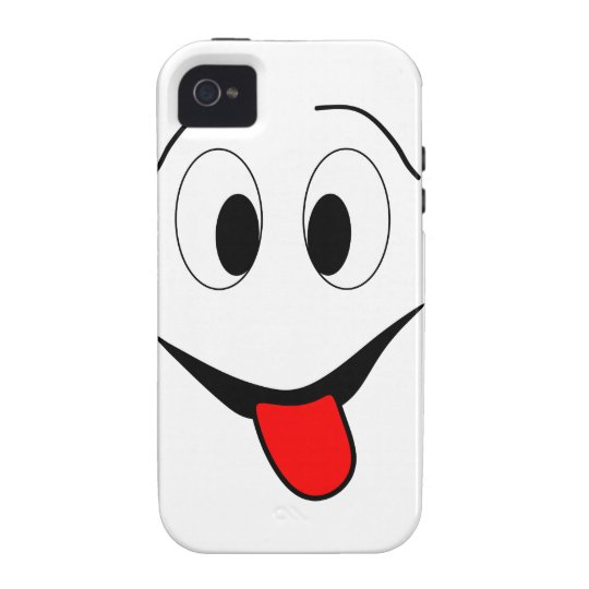Funny face - black and red. vibe iPhone 4 case