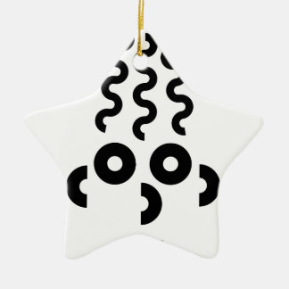 Funny Face Ceramic Ornament