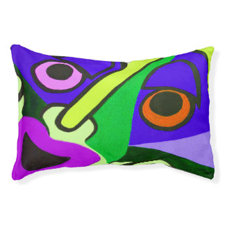 Funny Face Green Small Doggie Bed