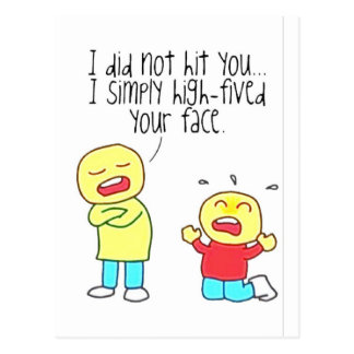 Funny Face High Five Postcard