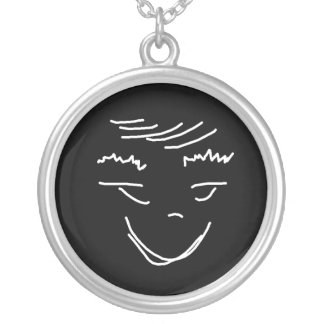 Funny Face Necklace Pendant