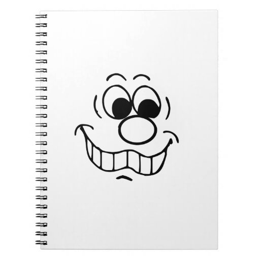 Funny Face Spiral Note Books