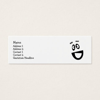 Funny face profile cards
