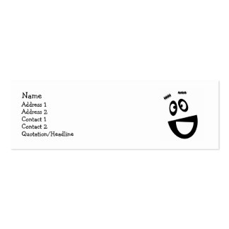 Funny face profile cards pack of skinny business cards