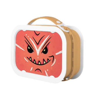 Funny Face with Smirky Smile - Red Lunch Box