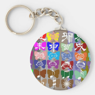 Funny Faces,  Chinese Characters and Sparkles Keychains