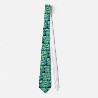Funny Faces. Fun Cartoon Monsters. Green. Tie