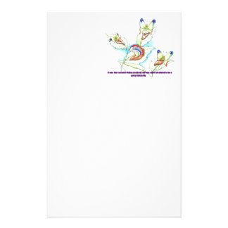 funny Failed Social Butterfly caterpiller Custom Stationery