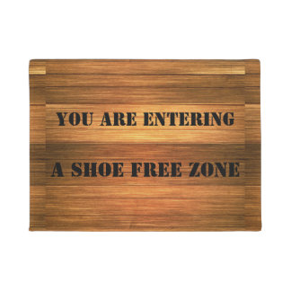 Funny Fake Wood Shoe Free Zone Door Mat
