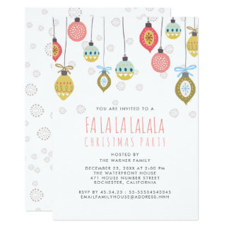 Funny Falalala Christmas Party Card
