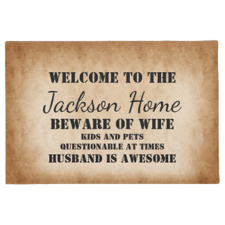 Funny Family Name Doormat