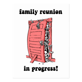 Funny family reunion postcards