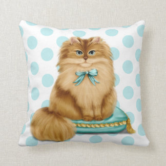Funny Fancy Cat on Pillow