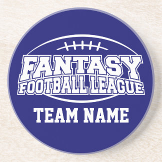 Funny Fantasy Football FFL Gift - Customize it Drink Coaster