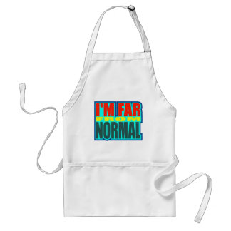 Funny Far From Normal T-shirts Gifts Adult Apron
