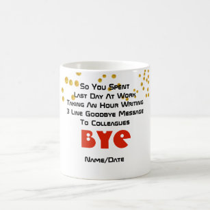 Farewell messages gifts on zazzle au funny farewell colleague 3 line goodbye message coffee mug m4hsunfo