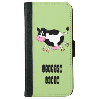 funny farm dancing cow iPhone 6 wallet case