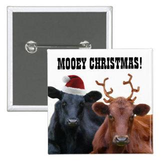 Funny Farm Mooey Christmas Cows Button