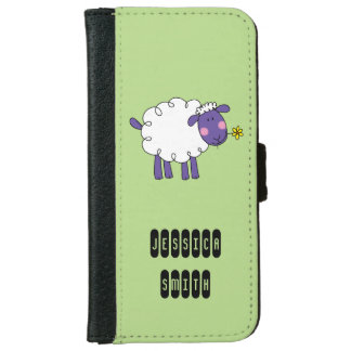 funny farm woolly sheep iPhone 6 wallet case