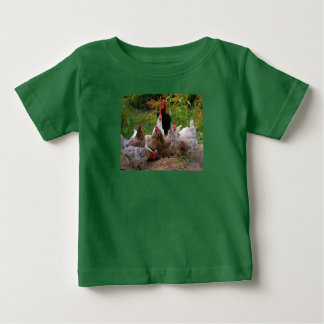 Funny Farmyard Chickens & Rooster Toddler's Tshirt