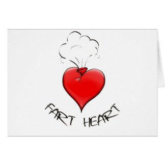Funny Fart Heart Card