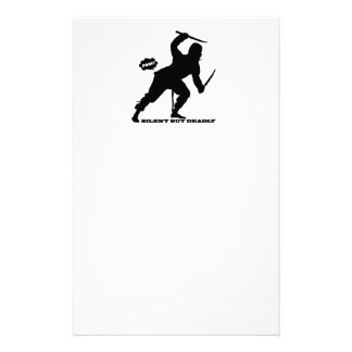 funny farting ninja silent but deadly personalised stationery